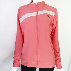 Nike Pink & White Stripe Vintage Style Zip Jacket